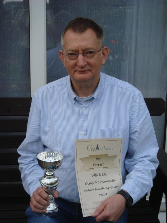 Ian Wins End of Season Indoor Shoot 2019