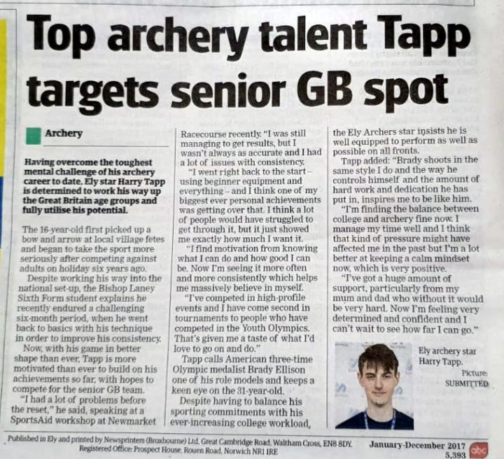 Harry in Ely Standard Newspaper - 9th April 2020
